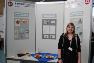 """Swantje Schäfer: 1. Platz im Fachbereich Biologie ( betreut durch das Schülerforschungszentrum Bremerhaven """"Mein Labor"""")"""
